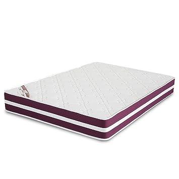 El Almacen del Colchon - Colchón viscoelastico Modelo Confort Life, 90 x 190 x 24cm - Todas Las Medidas, Blanco y Rojo: Amazon.es: Hogar