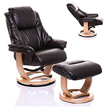 The Emperor - Bonded Leather Recliner Swivel Chair u0026 Matching Footstool in Black  sc 1 st  Amazon UK & The Emperor - Bonded Leather Recliner Swivel Chair u0026 Matching ...
