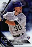 2016 Topps Chrome #59 Tom Murphy Colorado Rockies Baseball Rookie Card in Protective Screwdown Display Case