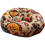 Sunflowers Cotton Linen Round Chair Cushion Floor Pillow Seating Cushion Floor Cushion Seat Pad Pillow