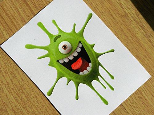 Funny Green Monster Splat Vinyl Sticker (External Fitting)