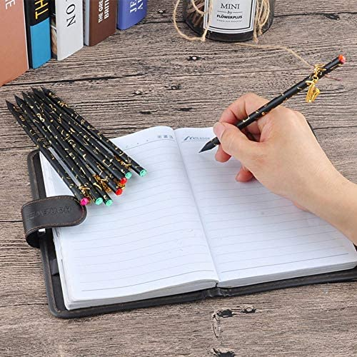 8pcs Pencil Set 8pcs Musical Note Pendant Pencil Set Writing Drawing Pencil Sketch Painting Non-Toxic Pencils for School Students Stationery