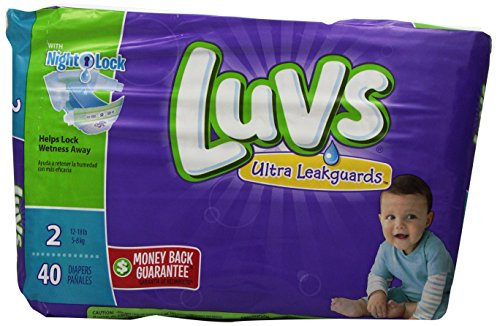Luvs with Ultra Leak Guards Diapers, Size 2, 40 Count