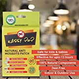 Kassy Pop Natural Repellant Mosquito Patches for Babies, Infants & Toddlers, 12 Hour Protection, 20 Patches