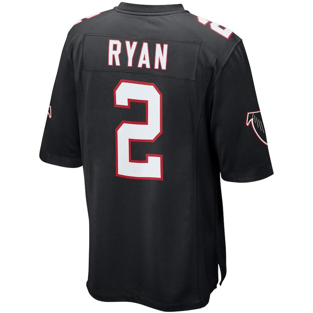 TKGFTU Men's/Women's/Youth_Matt_Ryan_Black_Game_Jersey