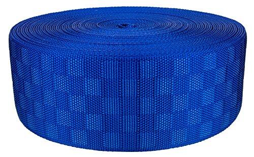 3 Inch Royal Blue Checkerboard Heavy Nylon Webbing Closeout, 10 Yards (Checkerboard Royal Blue)