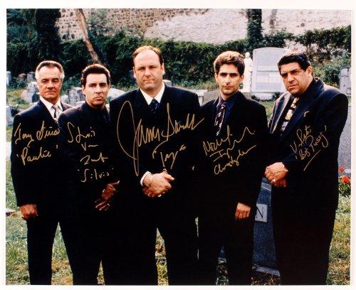 The Sopranos cast reprint signed photo RP James Gandolfini
