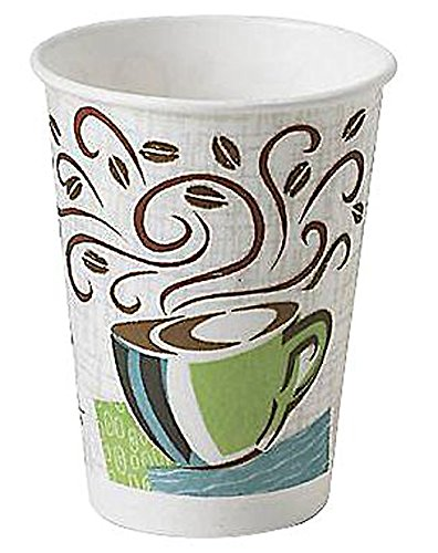 Dixie Perfectouch Disposable Hot Cups, 12 OZ Cups/50 Count
