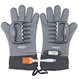 Best Insulated Barbecue And Food Gloves - Grill Gloves,Heat Resistant BBQ Gloves,Waterproof Insulated Silicone Oven Review