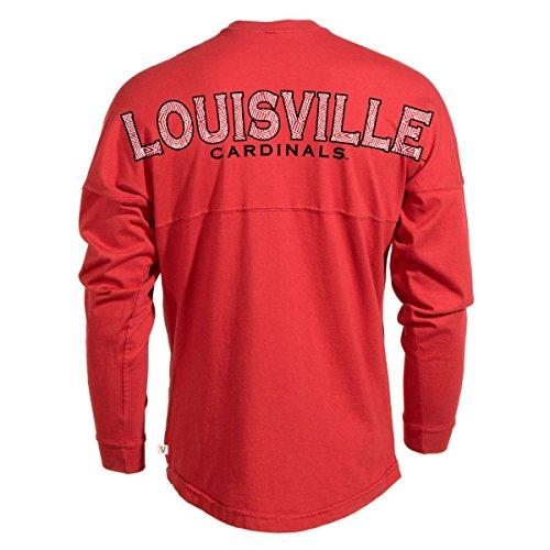 Official NCAA University of Louisville Cardinals Fight UofL Women's Spirit Wear Jersey T-Shirt