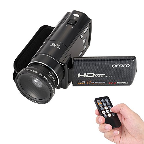 ORDRO HDV-V7 1080P Full HD Digital Video Camera Camcorder...