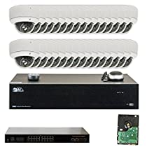 32 Channel 4K NVR IP PoE Video Surveillance System with (32) 5 Megapixel 1920P Weatherproof 2.8-12mm Varifocal Zoom Dome Security Camera (Pre-installed 2 x 5TB HDD, 8x HDD bay, up to 64TB total)