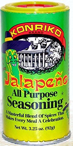 Konriko Seasoning Jalapeno, 3.25-Ounce (Pack of 6)
