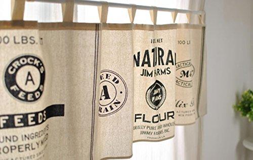 Modern Black And White Minimalist Style Kitchen Half-Curtain Kitchen Curtain Cafe Short Panel Curtain.