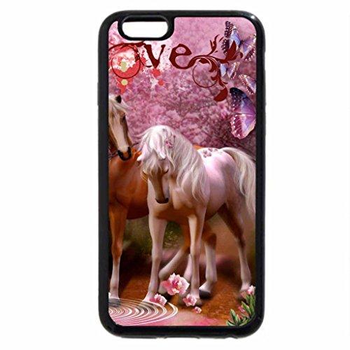 iPhone 6S / iPhone 6 Case (Black) Horses love
