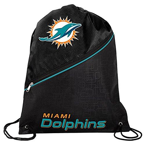 公式National Football LeagueファンShopパッド入り本物バックパック/巾着バッグ。NFLハイエンド巾着ジッパーバッグパッド入りバック付きの快適。ゲームの日、Tailgatingまたは日常使用。 B01IOFEOVS  Miami Dolphins