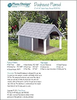 Dog House Pet Kennel Project Plans Gable Double Roof Style with