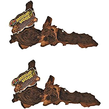 Amazon Com 2 Pack Zoo Med Reptile Mopani Wood For