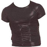 Milisten Hombre Sexy Charol Metalizado Camiseta Hombres Club