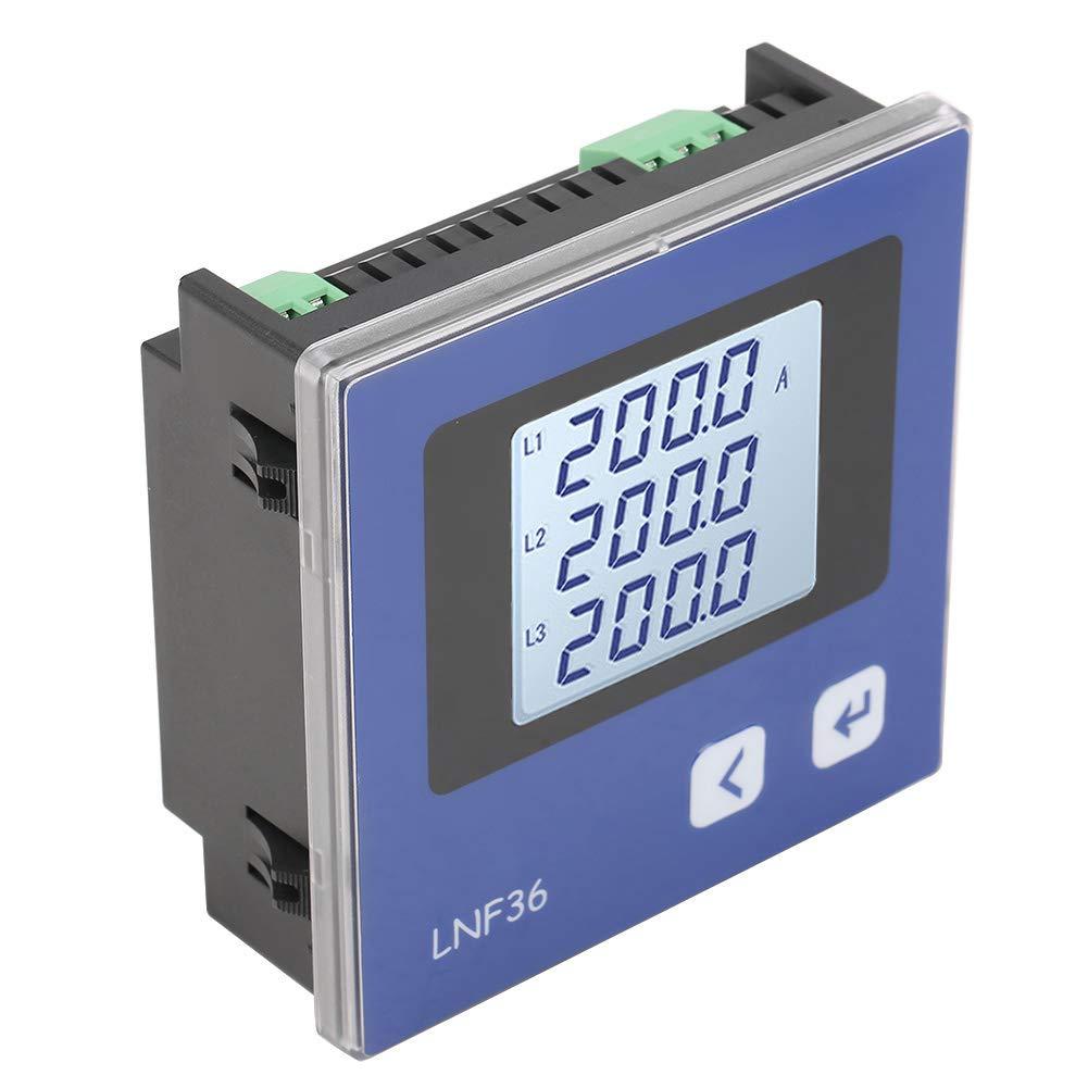 Amperometro amperometrico Display LCD digitale trifase Misuratore di potenza intelligente elettrico multifunzione Amperometro di misurazione della corrente alternata LNF 36