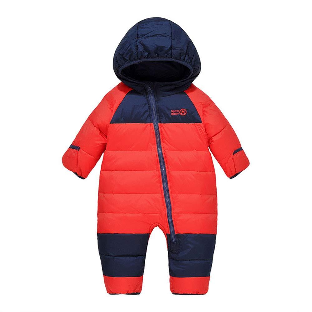 Digirlsor Baby Snowsuit Toddler Boy Girl Down Romper Jumpsuit Winter Hooded Puffer Jacket Pram Suit, 1-4 Years DC164