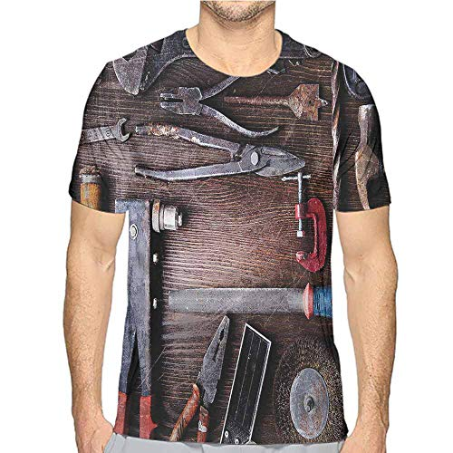 Mens t Shirt Industrial,Craft Mechanic HD Print t Shirt M