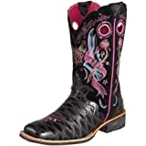 Ariat Women's Rodeobaby Rocker Boot,Black Anteater Print/Black Tattoo,9 M US