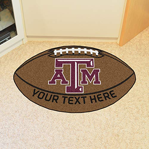 Custom Home Rugs Personalized Texas A&M University Football -