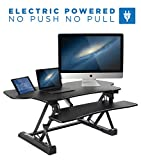 Mount-It! Electric Standing Desk Converter, 48″ Wide Motorized Sit Stand Workstation, Ergonomic Height Adjustable Tabletop Desk, Black Review
