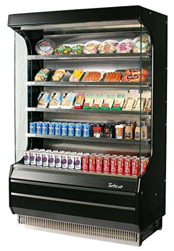 50in Refrigerated Open Air Merchandiser Black