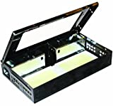 JT Eaton 420CL-BK Repeater Low Profile Multi Catch Mouse Trap with Clear Inspection Window, Black Powder Coat Finish, 10-1/4'' Length x 6-1/4'' Width x 2-7/8'' Height (Case of 12)