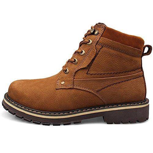 TAOFFEN Brown Inverno Moda Uomo Chukka Stivali Scarponcini OxwYzOrq