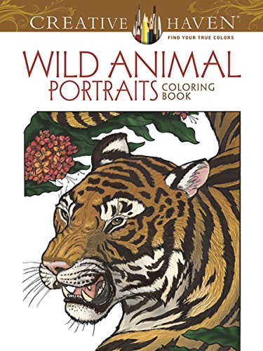 Creative Haven Wild Animal Portraits Coloring Book (Adult Coloring) (Cards Christmas Portrait)