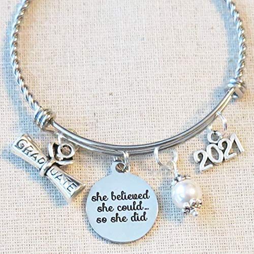 high school graduation gift for her inspirational feminist gifts for daughter Dream Believe Achieve inspirational affirmation gift sister
