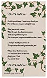 Dad Gifts for Christmas Best Dad Ever Dad Poem Decorative Poetry Award Gift