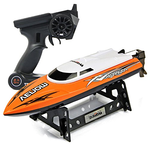 Control Remote Speed (Cheerwing RC Racing Boat for Adults High Speed Electronic Remote Control Kids, Orange)