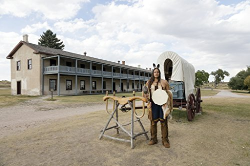 24 x 36 Giclee print ofAn American Indian historical intrepreter outside the old cavalry barracks at Fort Laramie National Historic Site in Goshen County Wyoming r56 42254 by Highsmith, Carol M.,