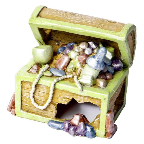Frog Aquarium Ornament - GloFish Treasure Chest Ornament for Aquarium, Small