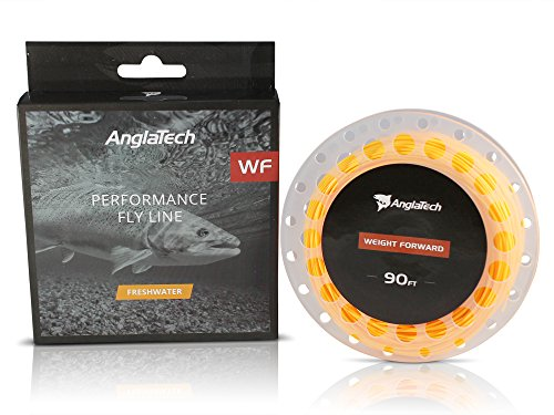 (Anglatech Fly Fishing Line Floating Weight Forward WF 3 4 5 6 7 WT for Trout Dry Fly and Freshwater Nymphing)