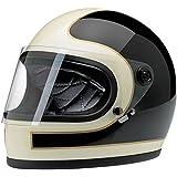 Biltwell Gringo S Le Tracker Helmet (Gloss Black/Vintage White, Large)