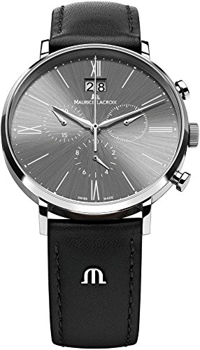 maurice-lacroix-mens-el1088-ss001-810-eliros-stainless-steel-watch-with-black-leather-band