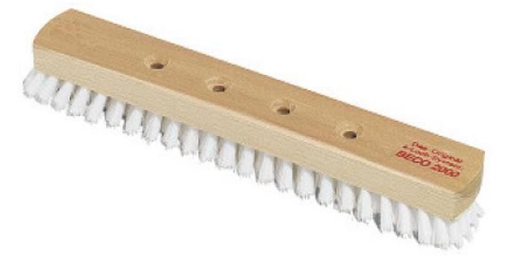 Schrubber Holz Nölle30 cm mit 4-Loch Aufnahme PPN weiß