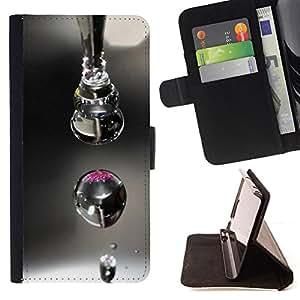 BullDog Case - FOR/LG Nexus 5 D820 D821 / - / Design Macro Drop /- Monedero de cuero de la PU Llevar cubierta de la caja con el ID Credit Card Slots Flip funda de cuer