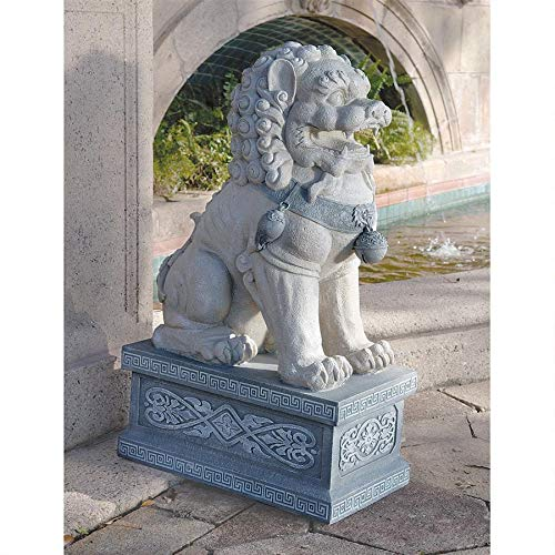 (Design Toscano Giant Foo Dog of the Forbidden City Sculpture)