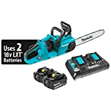 Makita XCU03PT 18V X2 (36V) LXT Lithium-Ion Brushless Cordless 14″ Chain Saw Kit (5.0Ah)