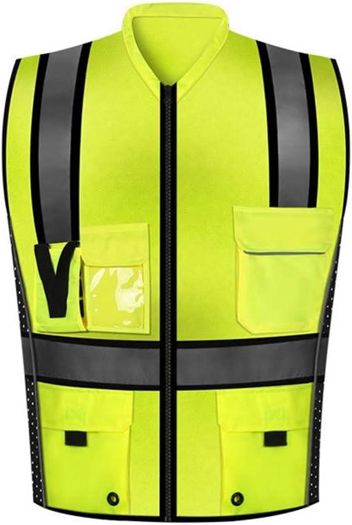 SK Studio Adulto Chalecos de Seguridad 60 Grados Reflectantes para Jogging al Aire Libre Ciclismo Caminar y Correr Verde XX-Large