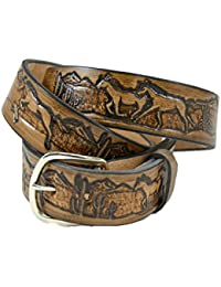 Horse Design Stampable Steerhide Solid Leather Belts Made In the USA
