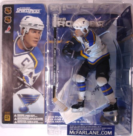 McFarlane Toys NHL Sports Picks Series 2 Action Figure:Chris Pronger(St. Louis Blues) White Jersey (McFarlane's Sports Picks) ()