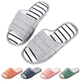 Women's Memory Foam House Slippers Soft Winter Warm Cotton Indoor Slippers Open Toe Slip On Home Shoes GY28