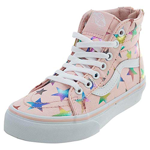 (Vans Kids K SK8-HI Zip FOIL Stars Pink Size 4)